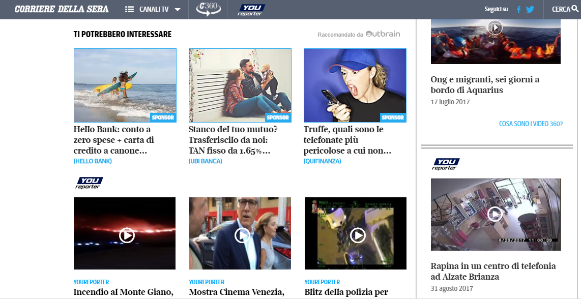 Corriere Native Advertising