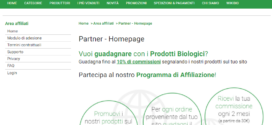 Sorgentenatura.it monetizzare con prodotti bio