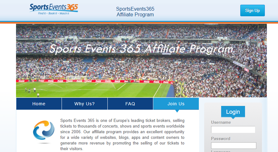 sports events 365 affiliation program