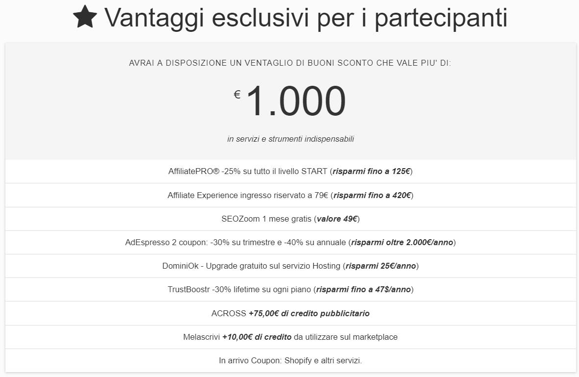 sconti AffiliateDay